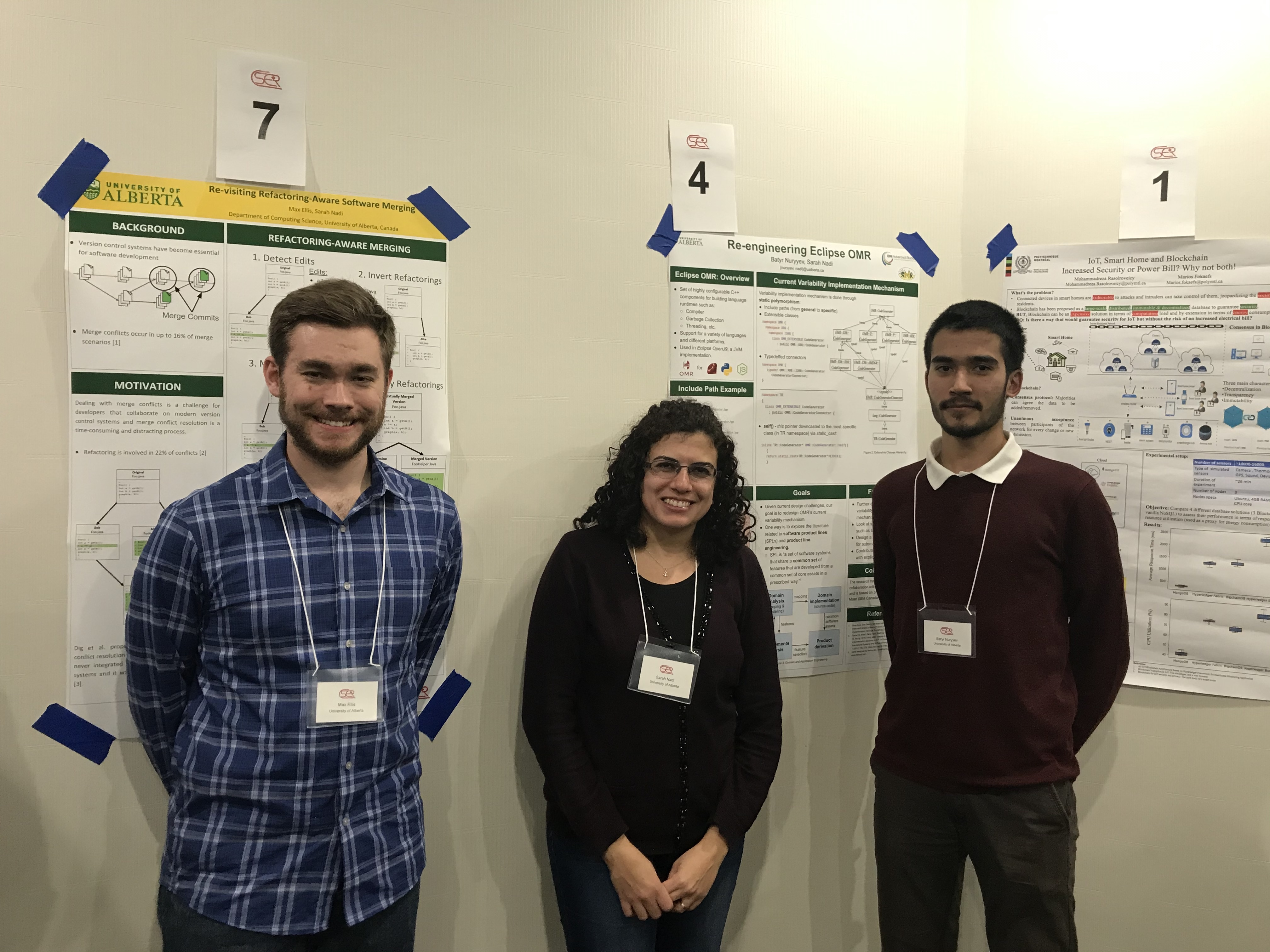 CSER 2019 poster presentations in Markham, ON (Max Ellis and Batyr Nurryev)